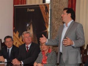 Herzlicher Empfang durch Vizebürgermeister Franz X. Gruber