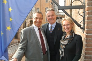 Präsident Antonio Pastorello - LAbg. Rudi Federspiel - Kerstin Schönbohm
